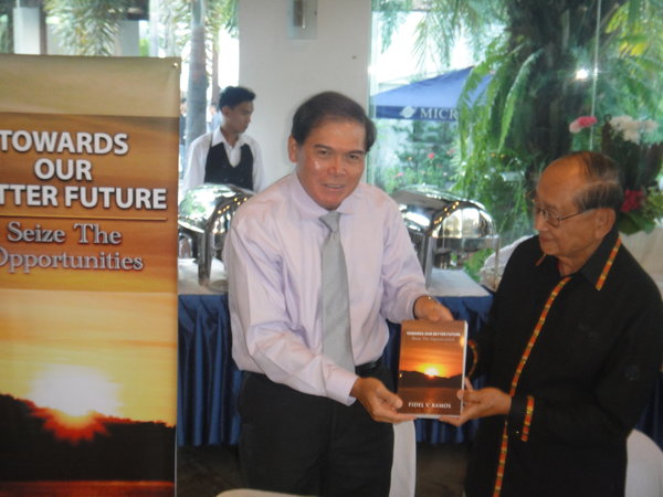 "Launch of the 15th volume of FVR's writings on Leadership, Citizenship and Governance titled ""Towards Our Better Future"" held last February 29, 2012 in Makati City."
