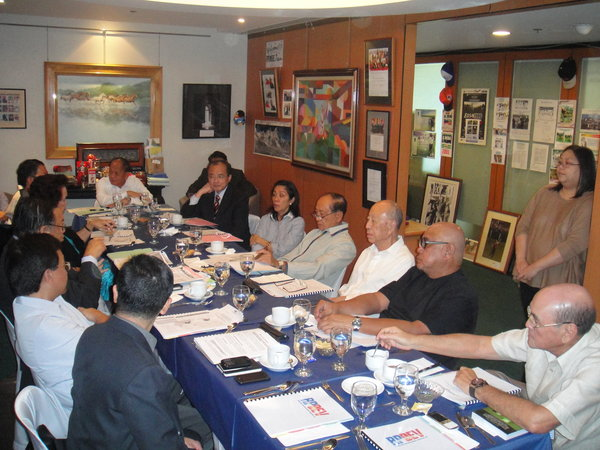 2012 RPDEV Board of Trustees meeting held at the RPDEV office in Makati City.